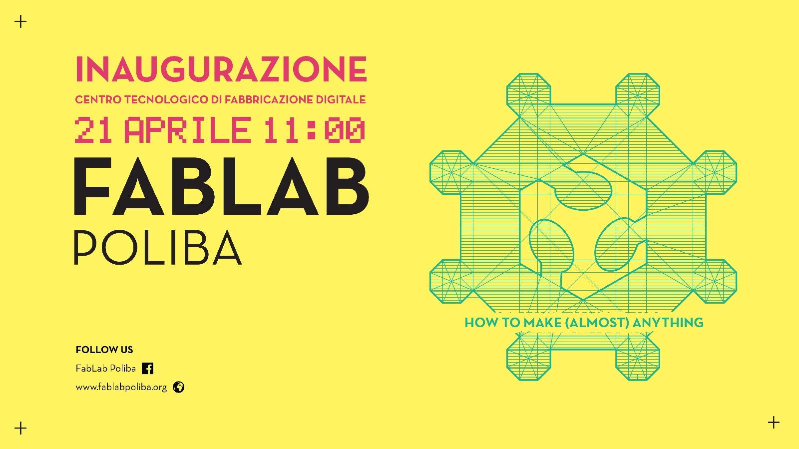 """Centro Tecnologico per la Fabbricazione Digitale """"FabLab Poliba"""